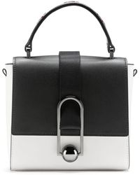 569caf8323928 HUGO - Top-handle Handbag In Italian Leather With Rubberised Finish - Lyst