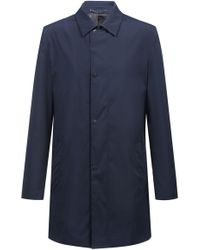 HUGO - Water-repellent Coat In Technical Fabric With Point Collar - Lyst