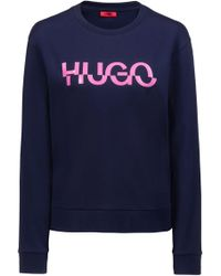 HUGO - Relaxed-fit Sweatshirt In Cotton With New-season Logo - Lyst