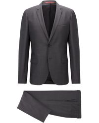 HUGO - Extra-slim-fit Suit In Super 100 Virgin Wool - Lyst
