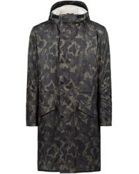HUGO - Camouflage-print Coat With Detachable Faux-shearling Lining - Lyst