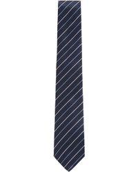 BOSS - Italian-made Silk Tie With Diagonal Stripes - Lyst