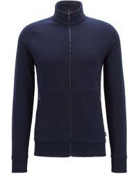 BOSS - Zip-through Jacket In Double-faced Jersey - Lyst