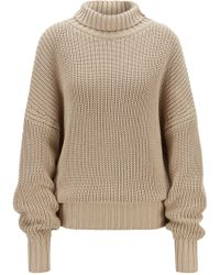 081426dec BOSS - Oversized-fit Turtleneck Jumper With Extra-long Sleeves - Lyst