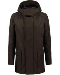 HUGO - Regular-fit Coat With Contrast Strips And Wide Placket - Lyst