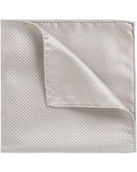 BOSS - Italian-made Pocket Square In Lustrous Silk Jacquard - Lyst