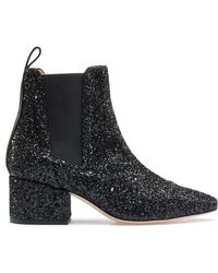HUGO - Chelsea Boots With Glitter Uppers And Leather Trims - Lyst