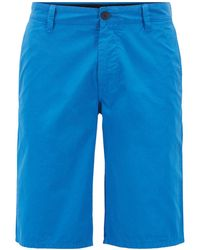 BOSS - Regular-fit Reactive-dyed Shorts In Pure Cotton - Lyst