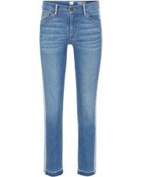 BOSS - Slim-fit Cropped Jeans In Stretch Denim - Lyst