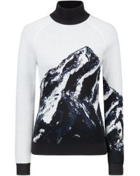 HUGO - Slim-fit Turtleneck Sweater With Mountain Jacquard - Lyst