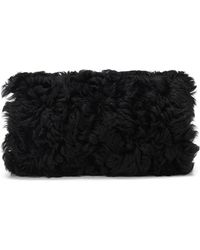 BOSS Orange - Shearling Hand Muff With Chain Detail - Lyst
