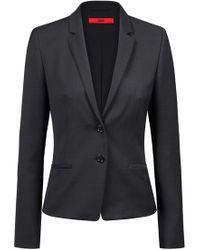 HUGO - Regular-fit Jacket In A Micro-pattern Wool Blend - Lyst
