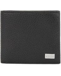 BOSS - Italian-leather Billfold Wallet With Large Grain - Lyst