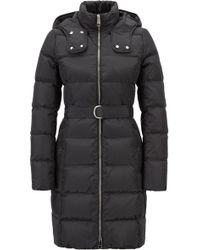 BOSS - Water-repellent Down Jacket With Detachable Belt - Lyst
