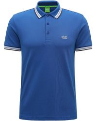 BOSS Green - Regular Fit Polo Shirt With Three-button Placket - Lyst