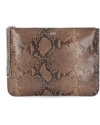 HUGO - Cosmetics Case In Leather With Python Print: 'nyane-p' - Lyst
