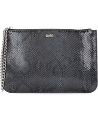 HUGO - Cosmetics Case In Leather With Python Print: 'nenice-p' - Lyst