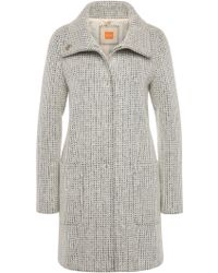 BOSS Orange - Knitted Coat In Fabric Blend With New Wool And Mohair: 'orandana4' - Lyst