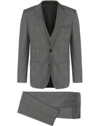 HUGO - Slim-fit Suit In New Wool With A Tartan Pattern: 'c-huge1/c-genius/we' - Lyst