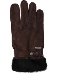 BOSS Orange - Leather Gloves With Lambskin Trim: 'gallet-tt' - Lyst