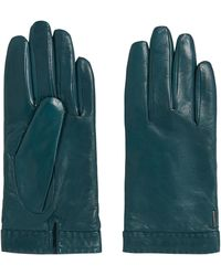BOSS - Leather Gloves With Topstitched Hem: 'garuni' - Lyst