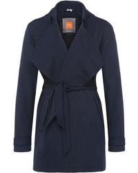 BOSS Orange - Regular-fit Trench Coat In Fabric Blend With Viscose: 'otrenchia' - Lyst