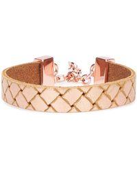 BOSS Orange - Leather Bracelet In Braided Look: 'morissa3' - Lyst