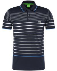 BOSS Green - Striped Slim-fit Polo Shirt In Cotton: 'paule 2' - Lyst