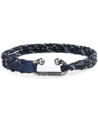 BOSS Orange - Corded Cotton Bracelet With Metal Fastening: 'mendrix4' - Lyst