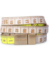 BOSS Orange - 2-tone Wrap Bracelet In Embossed Leather: 'mancy' - Lyst