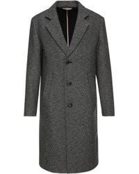 BOSS Orange - 'bear' | Wool Cotton Blend Double Twill Coat - Lyst