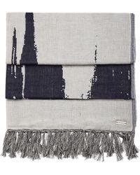BOSS Orange - 'nod'   Cotton Wool Patterned Scarf - Lyst