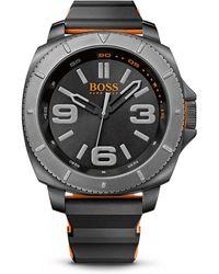 BOSS Orange - '1513109' | Silicone Strap 3-hand Quartz Sao Paulo Watch - Lyst
