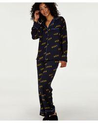 Hunkemöller Dkny Lange Pyjama Set - Blauw