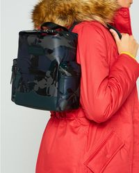 HUNTER - Original Disney Print Mini Backpack - Rubberized Leather - Lyst