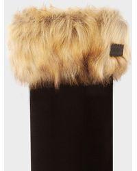 HUNTER - Original Faux Fur Cuff Boot Socks - Lyst