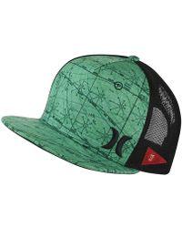 Hurley - Jjf Maps Trucker Adjustable Hat (green) - Clearance Sale - Lyst 0601234fd51
