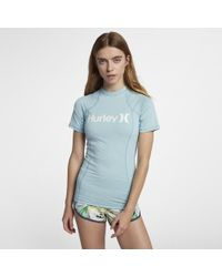 Hurley - One And Only Rashguard Short Sleeve Surf Shirt - Lyst