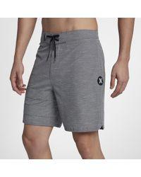 898ec7babb Hurley 'phantom Block Party Cryptic' Scalloped Board Shorts in Black ...