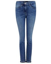 3x1 - High-rise Channel Seam Skinny Cropped Jeans - Lyst