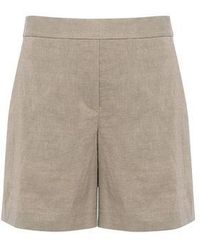 Theory - Linen Crunch Relaxed Shorts - Lyst