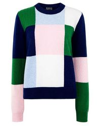 Markus Lupfer - Colour Block Mixed Stitch Grace Sweater - Lyst