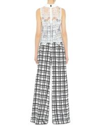 Marissa Webb - Erika Wide Leg Plaid Pants - Lyst