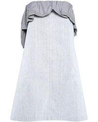 Thakoon - Ruffle Strapless Mini Dress - Lyst