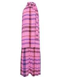 Apiece Apart - Solazure Plaid Tie Neck Maxi Dress - Lyst