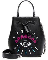 KENZO - Iconic Eye Mini Bucket Bag - Lyst