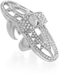CC SKYE - Renaissance Pave Hinged Ring - Lyst