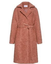 Carven - Belted Wool Mohair Coat - Lyst
