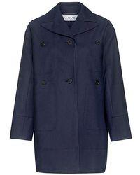 Carven - Cotton Gabardine Coat - Lyst