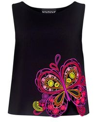 Boutique Moschino - Butterfly Embroidered Top - Lyst